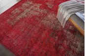 KARMA KRM01 RED RECTANGLE RUG 7'10'' x 10'6''