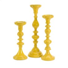 Essential Yellow Candleholders - Set of 3