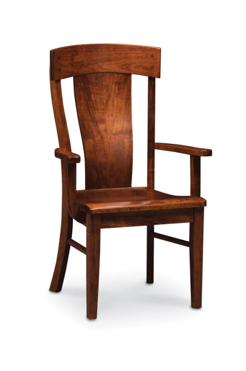 Harlow Arm Chair, Leather Cushion Seat