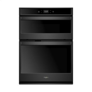 6.4 cu. ft. Smart Combination Wall Oven with Touchscreen - BLACK