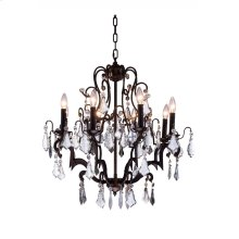 "1132 Charlotte Collection Chandelier D:26"" H:28"" Lt:8 Antique Bronze Finish (Royal Cut Crystals)"