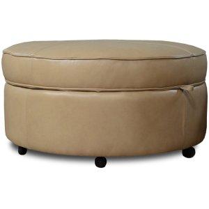 England Furniture Leather Auden Storage Ottoman 35581al