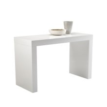 Faro C-shape Counter Table White