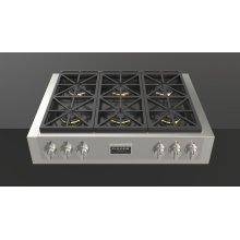 "36"" Pro Gas Range Top - stainless Steel"