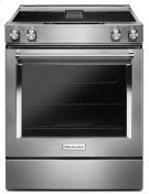 30-Inch 4-Element Electric Downdraft Slide-In Range - Stainless Steel Product Image