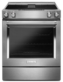 30-Inch 4-Element Electric Downdraft Slide-In Range - Stainless Steel
