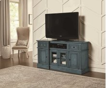 60 Inch Console - Aged Blue Finish