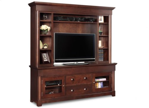 """Hudson Valley 74"""" HDTV Cabinet With Hutch"""