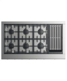 """48"""" Professional Cooktop: 6 Burners With Grill"""