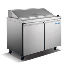 "2 Door 60"" Stainless Steel Sandwich/Salad Prep Table"