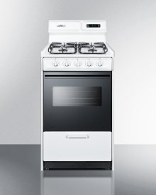 "20"" Wide Gas Range In White With Sealed Burners, Digital Clock/timer, Black Glass Oven Door With Window, Interior Light, and Spark Ignition; Replaces Wnm1307dfk"