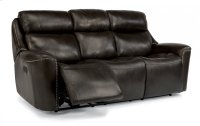 Mystic Leather Power Reclining Sofa with Power Headrests Product Image