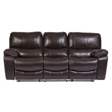 Ramsey Brown Leather-Look Reclining Set, M6013