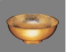 B0012 Hammertone Aurora - Small Vessel Lavatory - Antique Brass