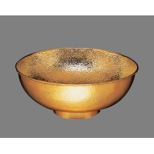 B0012 Hammertone Aurora - Small Vessel Lavatory - Antique Brass
