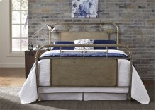 Queen Metal Bed - Vintage White