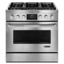 "Pro-Style® 36"" Dual-Fuel Range with MultiMode® Convection"