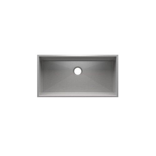 "SmartStation 005403 - undermount stainless steel Kitchen sink , 36"" × 18 1/8"" × 10"" (Maple)"