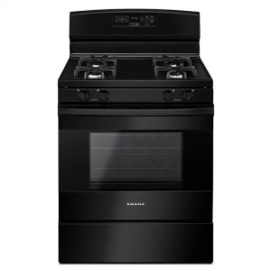 30-inch Gas Range with Self-Clean Option - black - BLACK