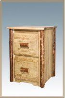 Glacier Country Log 2 Drawer File Cabinet Product Image