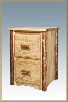 Glacier Country Log 2 Drawer File Cabinet