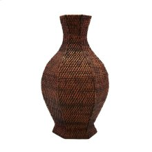 Batam 6-sided Baluster Vase, Brown