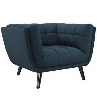 Bestow Upholstered Fabric Armchair in Blue