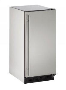 "Outdoor Series 15"" Outdoor Crescent Ice Maker With Stainless Solid Finish and Field Reversible Door Swing"