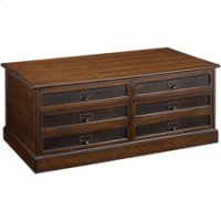 Mercantile Rectangular Storage Cocktail Table Product Image
