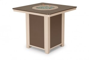 """32"""" Square MGP Top Dining Height Fire Table"""