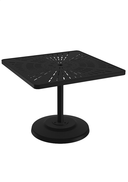 "La'Stratta 36"" Square KD Pedestal Dining Umbrella Table"