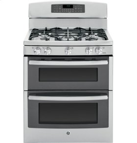 """GE Profile Series 30"""" Free-Standing Gas Double Oven with Convection Range"""