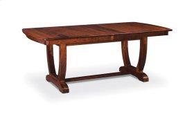 "Brookfield II Trestle Table,, Brookfield II Trestle Table, 48""x80"", 1-32"" Stationary Butterfly Leaf"