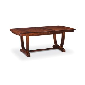 "Brookfield II Trestle Table,, Brookfield II Trestle Table, 48""x80"", 1-32"" Stationary Butterfly Leaf"
