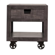 Industrial Grey End Table