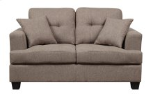 Loveseat W/2 Pillows Brown