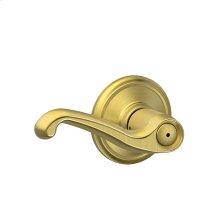 Flair Lever Bed & Bath Lock - Satin Brass