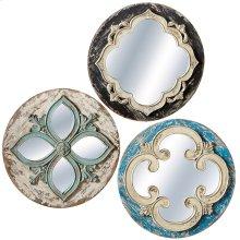 Round Carved Wall Mirror (3 asstd).