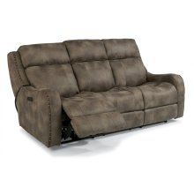 Springfield Fabric Power Reclining Sofa with Power Headrests