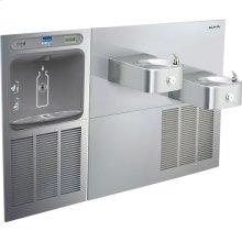 Elkay EZH2O Bottle Filling Station & Soft Sides Bi-Level Fountain, Non-Filtered 8 GPH Stainless