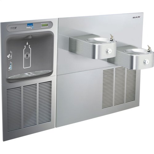 Elkay EZH2O Bottle Filling Station & Soft Sides Bi-Level Fountain, Non-Filtered 8 GPH Stainless