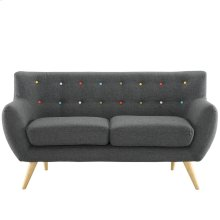 Remark Upholstered Fabric Loveseat in Gray