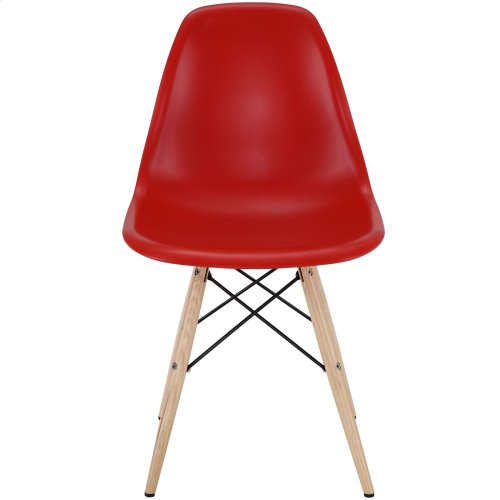 Pyramid Dining Side Chair in Red