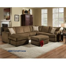 6800 - Cornell Cocoa 2-Piece Sectional
