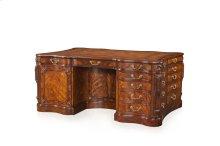 Joint Partnership Pedestal Desk, #plain# - Medium Sheen