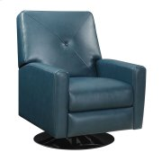 Swivel Recliner Kd Teal Blue/black Base Product Image