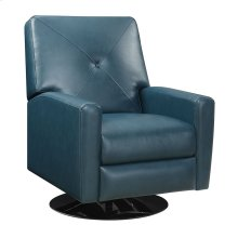 Swivel Recliner Kd Teal Blue/black Base