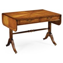 Regency Satinwood Folding Library Table