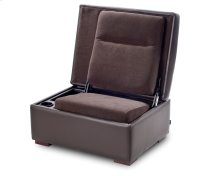 JumpSeat Ottoman, Leather with Piping