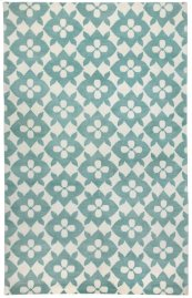 Coco's Flower Lt. Blue Ivory